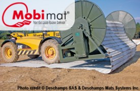 Mobi-Mat Aircraft Recovery Front End Loader Dispenser
